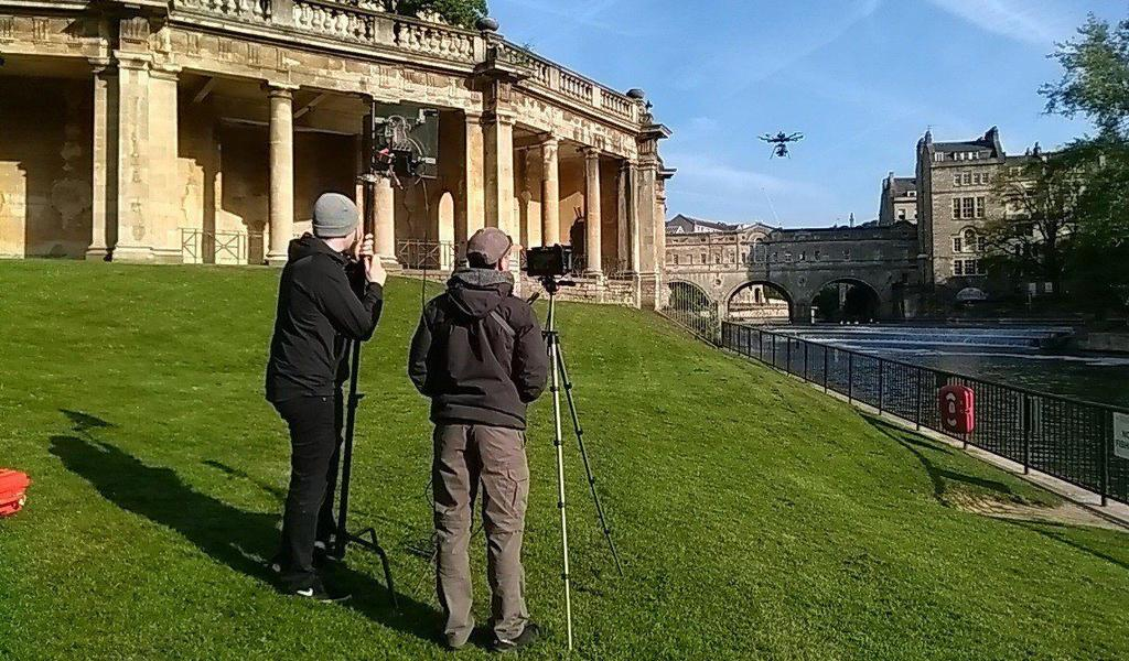Image: drone filming in Parade Gardens