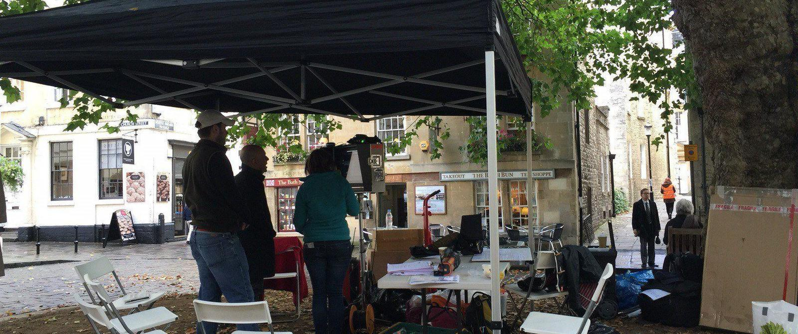 image:filming in Abbey Green
