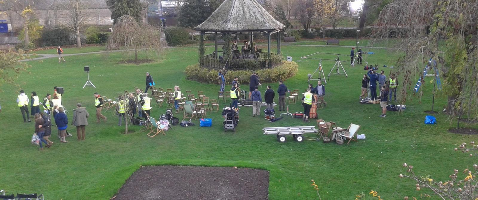 image:filming in Parade Gardens