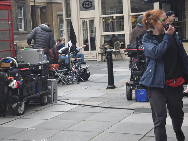 image: Filming in Old Bond Street