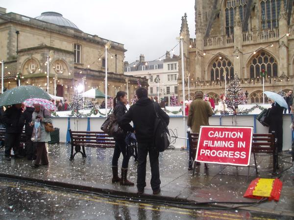 image:filming in Kingston Parade