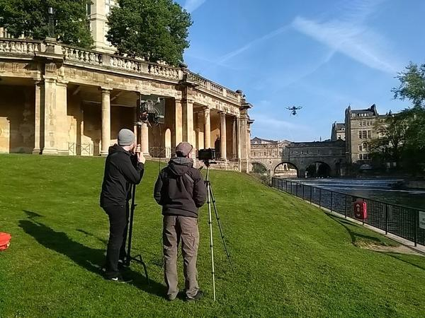 image:drone filming in Parade Gardens
